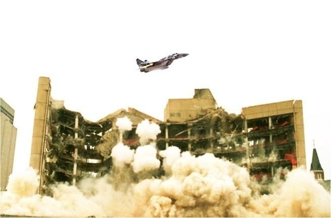 Сирийские истребители атаковали израильский разведцентр, первые кадры