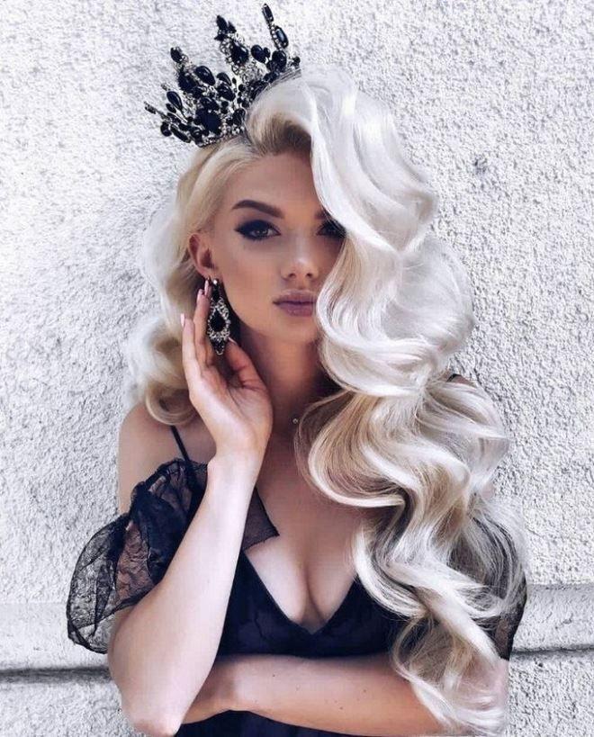 Шикарный образ для блондинок