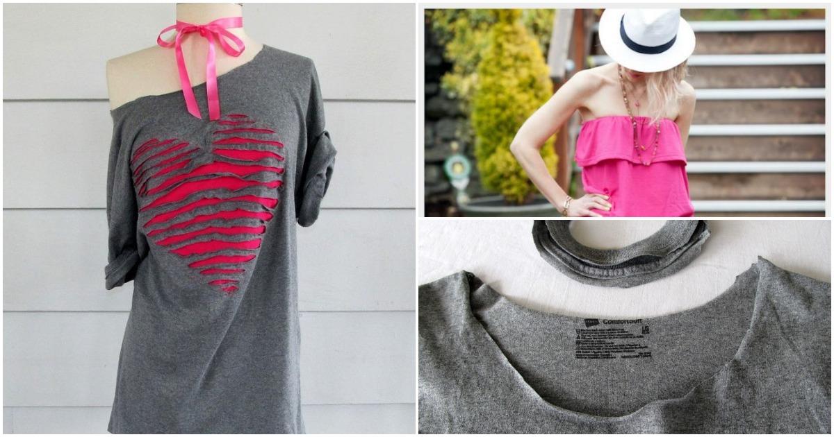 15 способов превратить старые футболки в дизайнерские вещи