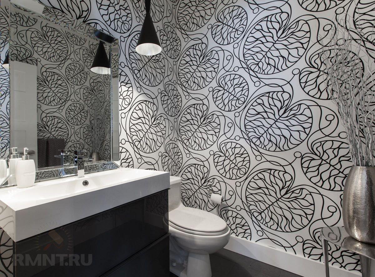 Чёрно-белые обои: вдохновляющая фотоподборка идеи для дома,интерьер и дизайн