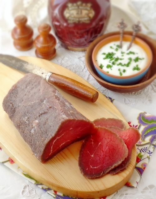Мясо говядины маринованное в водке