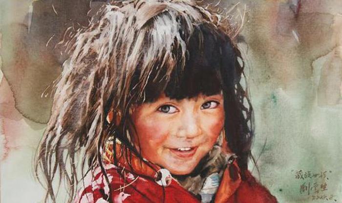 Девочка. Автор: Liu Yunsheng.