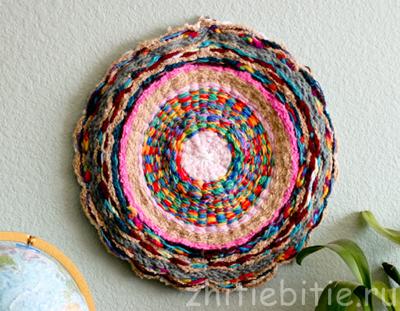 Плетение декоративного коврика (+фото)