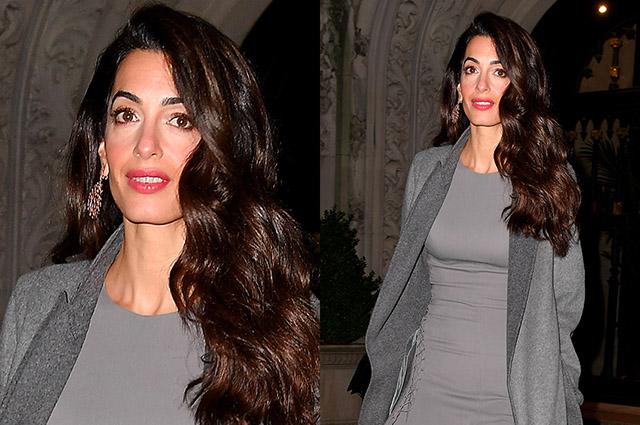 Все оттенки серого: Амаль Клуни гуляет по Нью-Йорку
