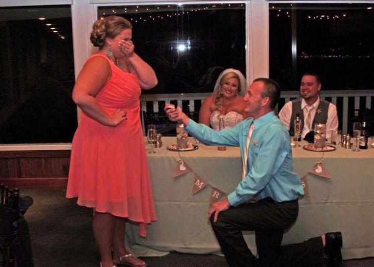 самый страшный кошмар любой невесты, кошмар любой невесты, сделал предложение на чужой свадьбе