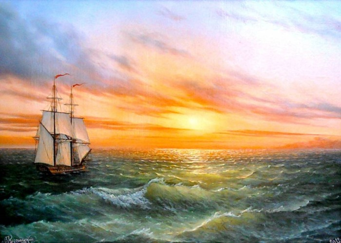 Морской пейзаж. Автор: Владимир Княгницкий.
