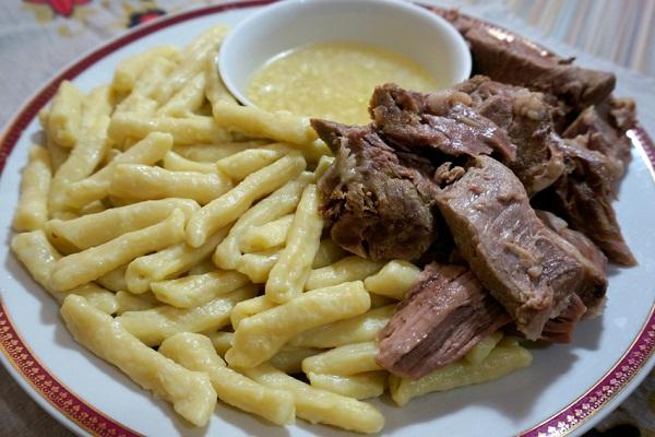 Вкуснейший сочный Жижиг- галнаш (мясо-галушки)