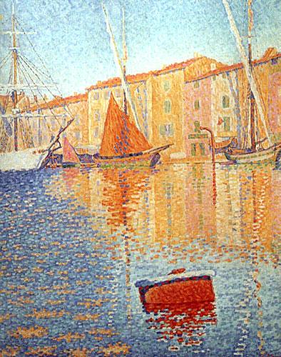 Поль Синьяк. «Сен-Тропе. Красный буй». 1895 г. Масло, холст. Музей Орсе. Франция.