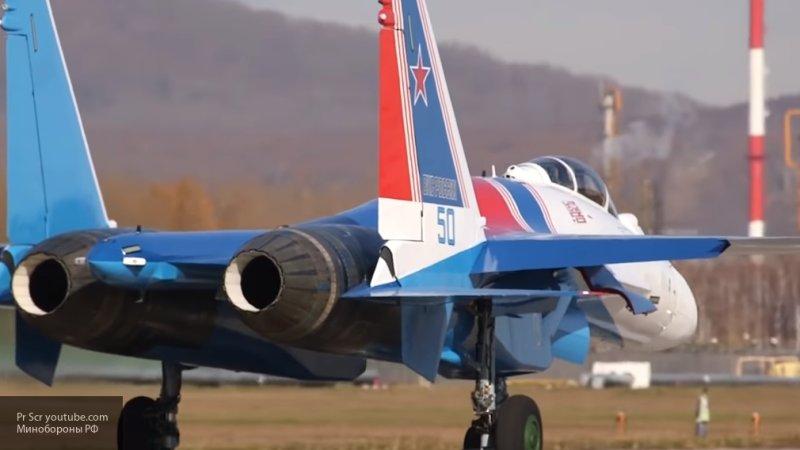 Видео с полетами истребителей Су-35С в Карелии появилось в Сети