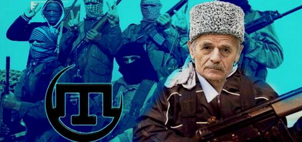 """Лидер """"меджлиса"""" Джемилев на фоне исламистских боевиков"""