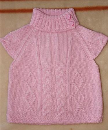 Розовая безрукавка для девочки