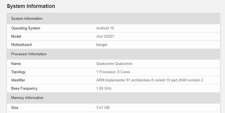 Смартфон Vivo Y20 одним из первых получит платформу Snapdragon 460 новости,смартфон,статья