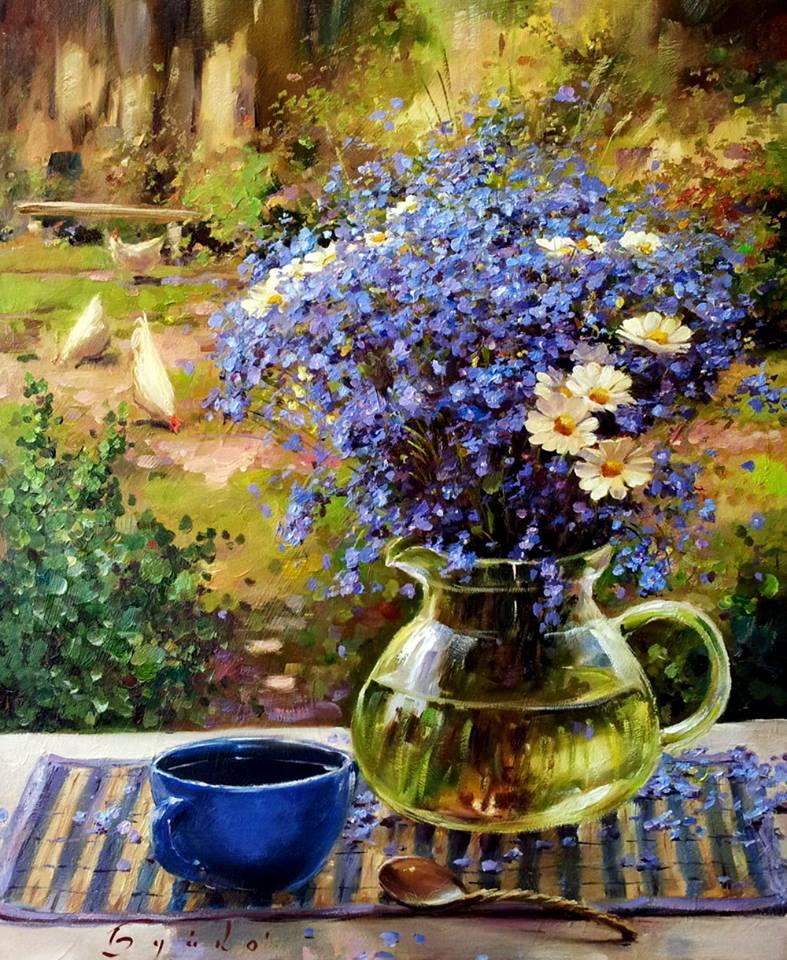 Яркая красота и гармония цвета и света в натюрмортах художника-самоучки Олега Буйко