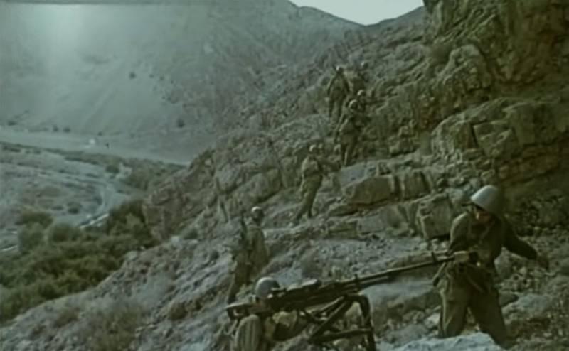 Советские пограничники на Афганской войне