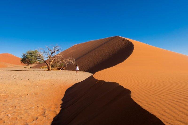 Песчаные дюны Соссусфлей, Намибия Кругосветное путешествие, интересно, мир в кармане, от Земли до Луны, приключения, путешествия, страны и города, увлекательно