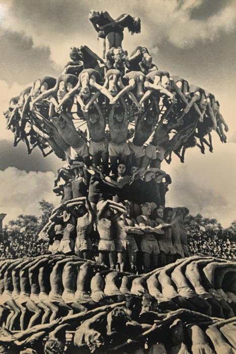 Парад физкультурников, Москва, 1954 год
