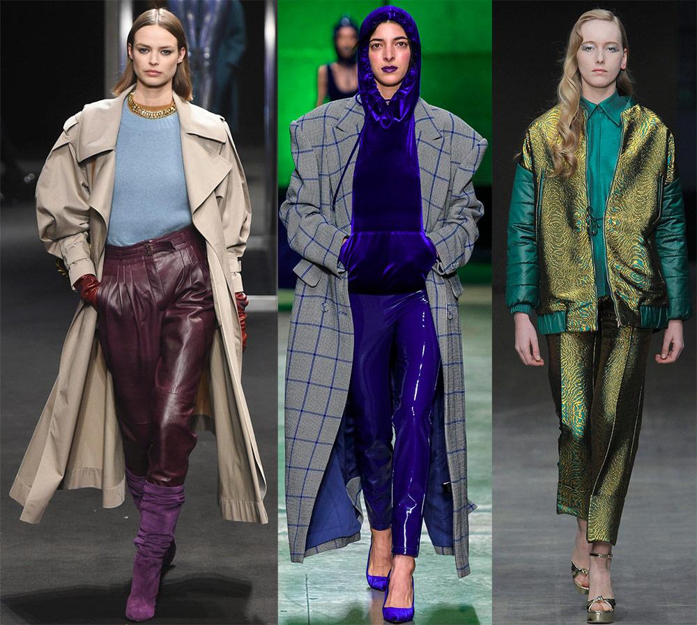 Как модно носить брюки с блеском в 2018-2019-м