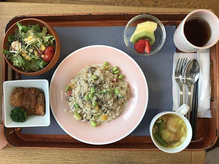 Ризотто на обед блюдо, еда, пища, родильный дом, роженица, фото, япония