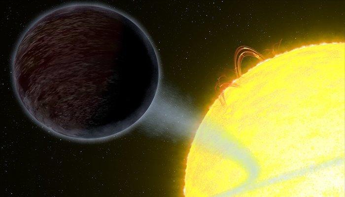 7. WASP-12 b - экзопланета, поглощаемая своей звездой вселенная, интересное, космос, подборка, экзопланета