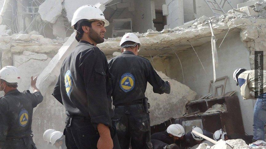 SANA опубликовала видео «Белых касок» с инсценировкой «химатаки» в сирийском Идлибе