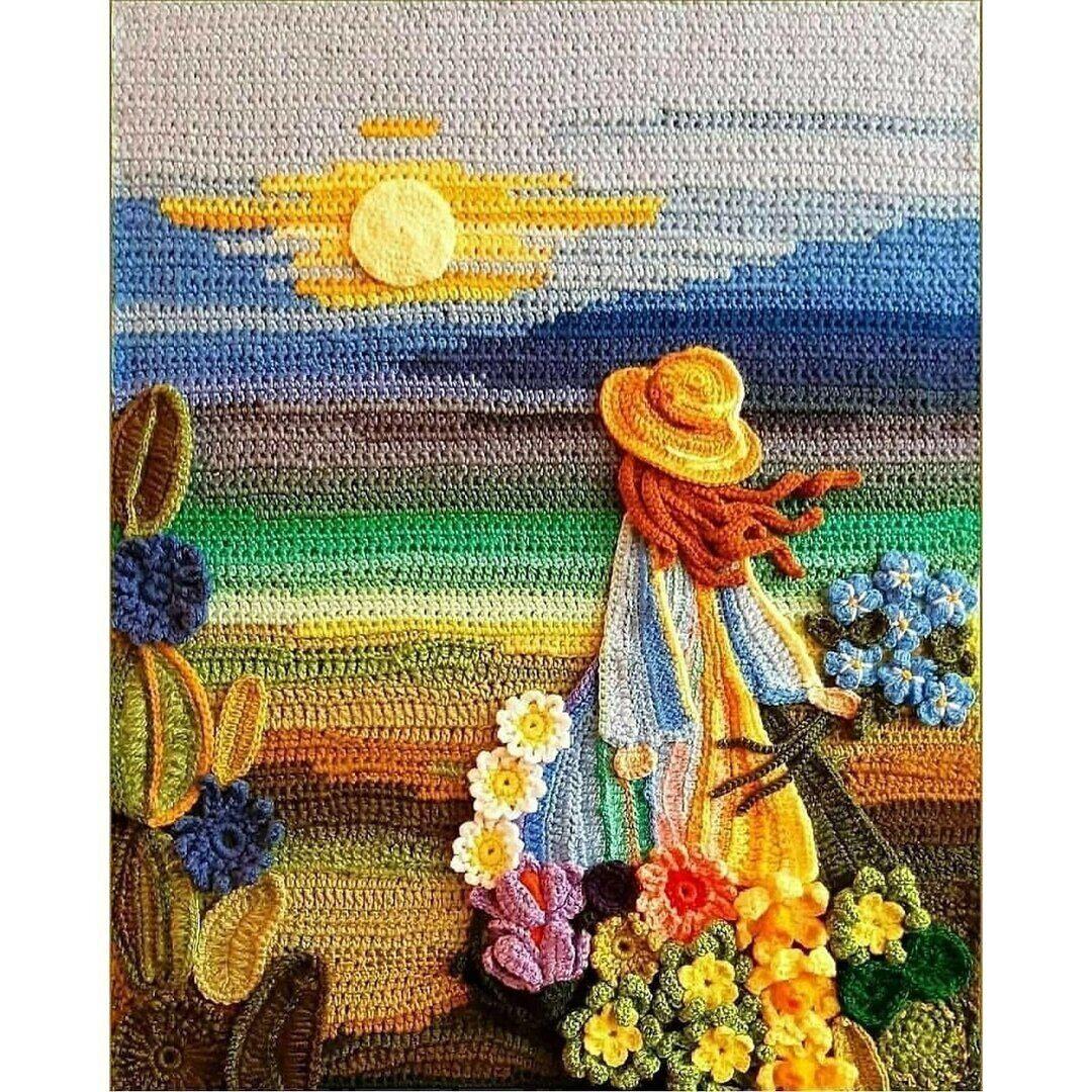 Посмотрите, какие великолепные картины вяжет крючком ariadna_frogg  handmake,вязание,поделки своими руками,разное,украшения