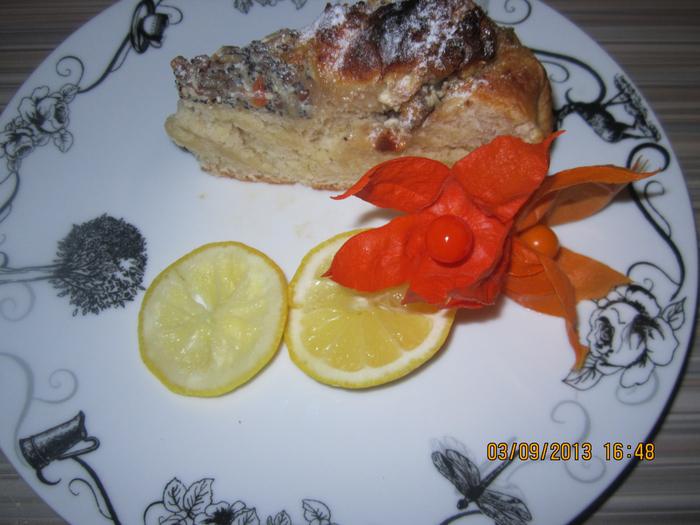 Изумительно вкусный пирог с творожной начинкой с орехами в меду
