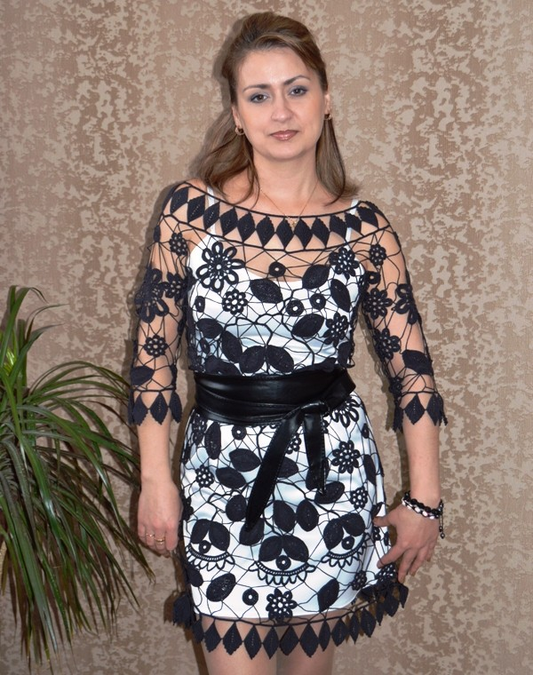 вязаное платье из ирландского