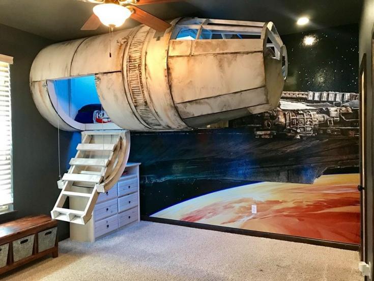 Кровать - космический корабль Star Wars (DIY)
