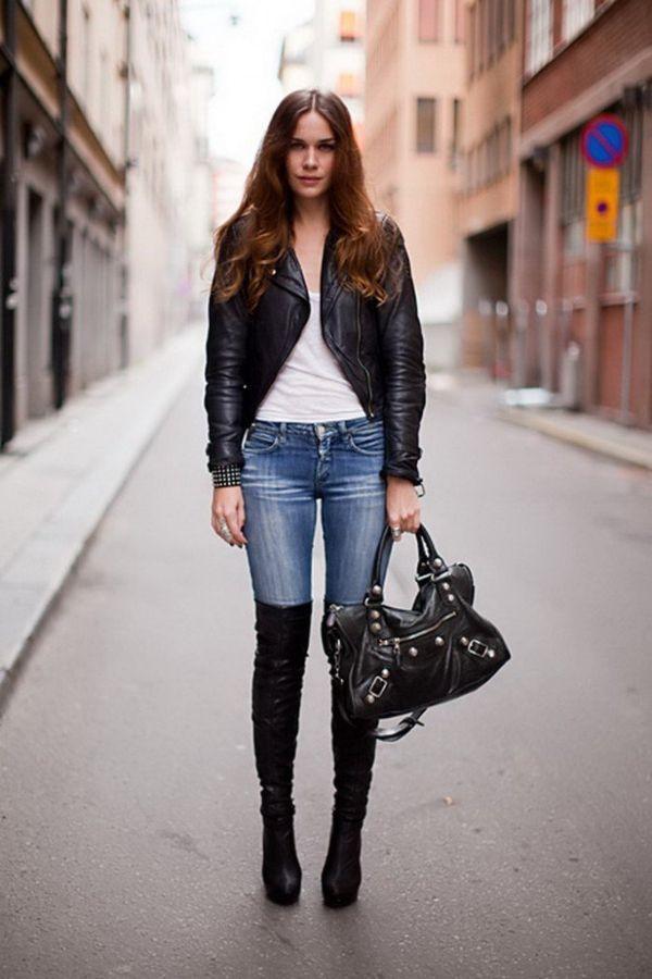 джинсы с сапогами