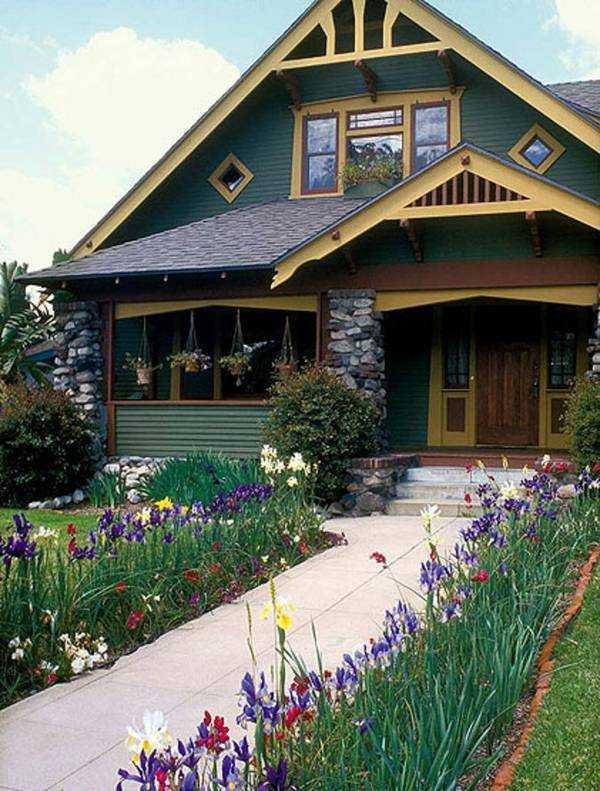 красивые одноэтажные дома с мансардой, фото 59