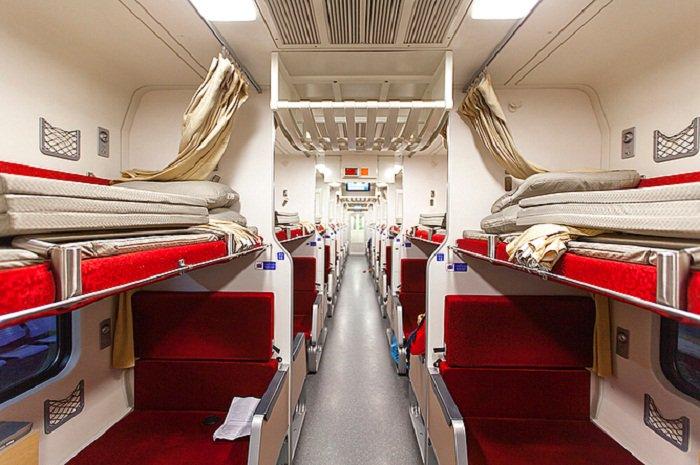 как выглядят плацкартные места в поезде фото последний