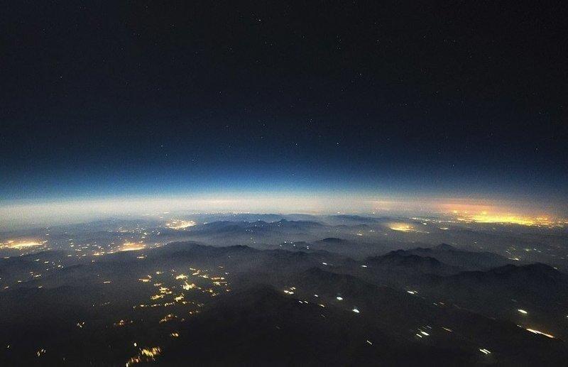 Ночь над Ираном вид из кабины пилота, красиво, летчик, небо над нами, путешествия над Землей, фото из самолета, фотограф, фотографии