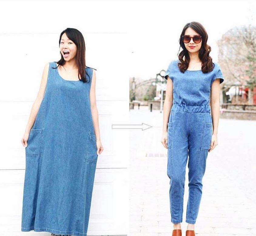 Девушка перешивает старые наряды так, что не отличить от дизайнерской одежды