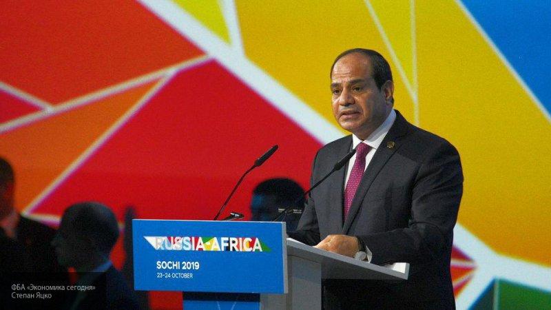 Лидер Египта направился на международные переговоры по Ливии
