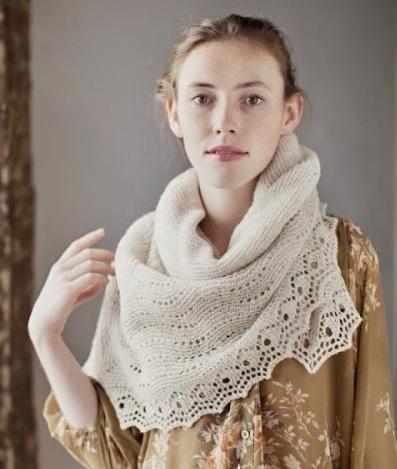 Схема вязания спицами роскошного теплого пухового платка