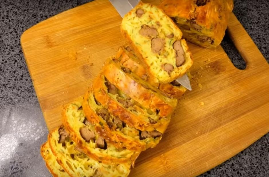 Бесподобно вкусный печеночный хлеб