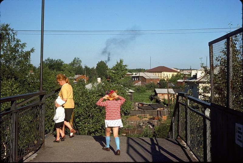 СССР из окна поезда в 1975 г СССР, поезд