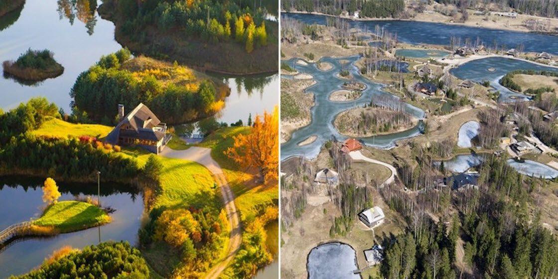 Латвийская деревня, построен…