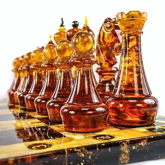 Из янтаря искусство, красота, мастерство, невероятное, талант, шахматы