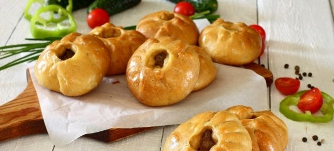 беляши с мясом в духовке рецепт