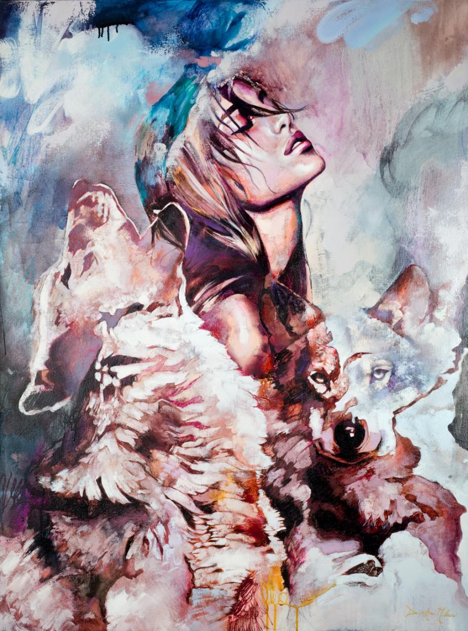 18-летняя художница удивляет своими яркими картинами