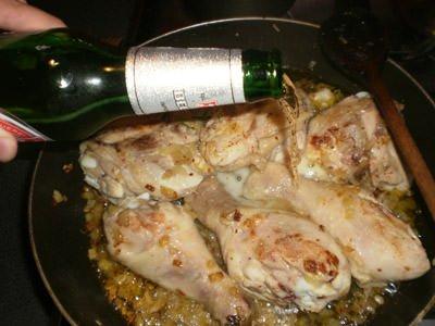 Курица в пиве курица,мясные блюда