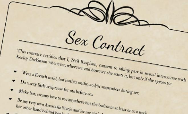 Хочешь секса? Составь договор!