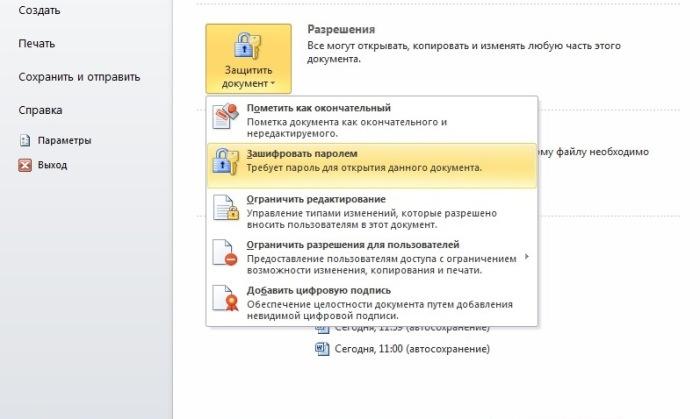 Если нужна защита документа.  Фото: novate.ru.