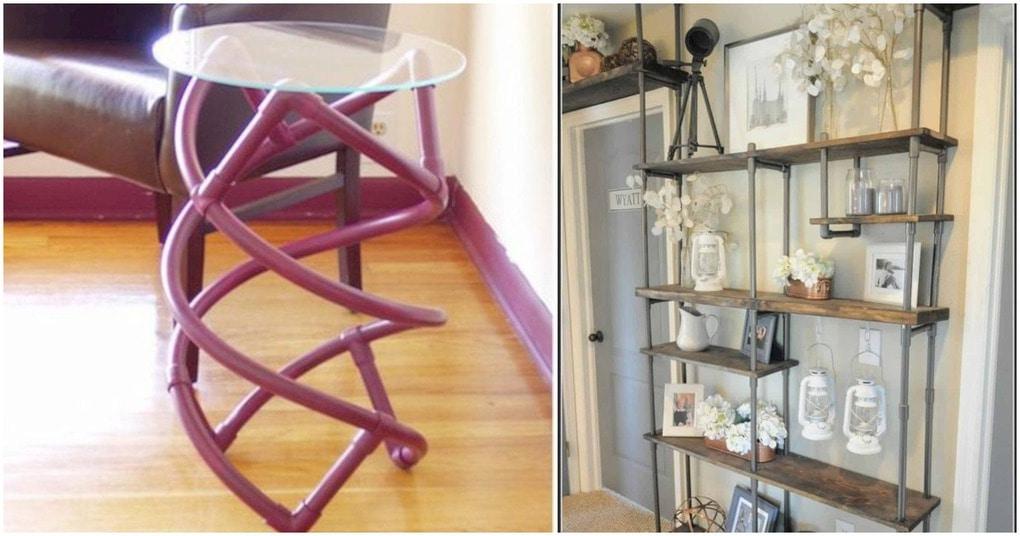 15 креативных идей мебели из ПВХ труб