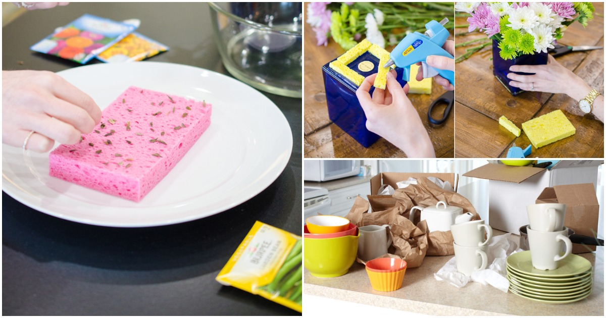11 необычных способов применения губки для мытья посуды