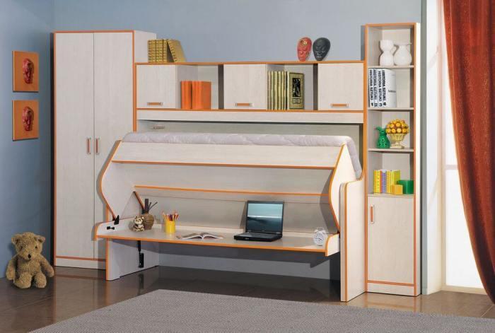 Шкаф-кровать – идеальное решение для обустройство детской комнаты. | Фото: dekoriko.ru.