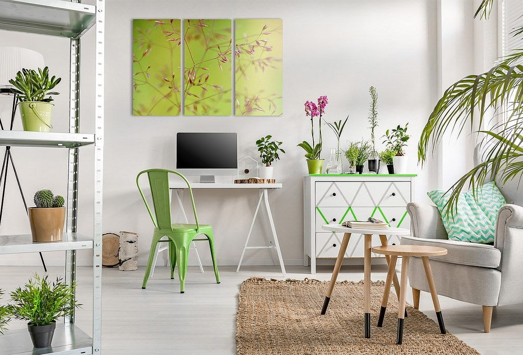 Image result for pantone greenery home decor