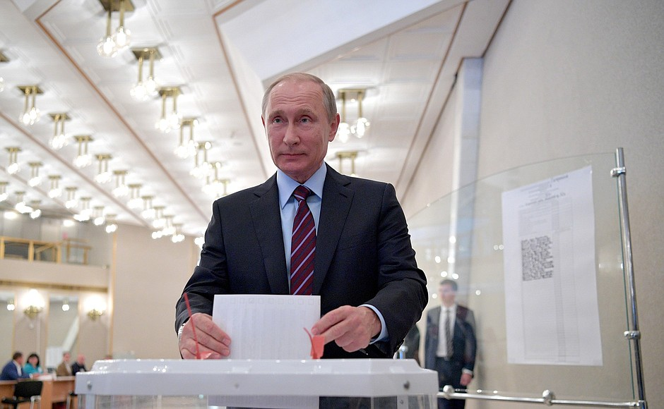 Владимир Путин проголосовал на муниципальных выборах в Москве