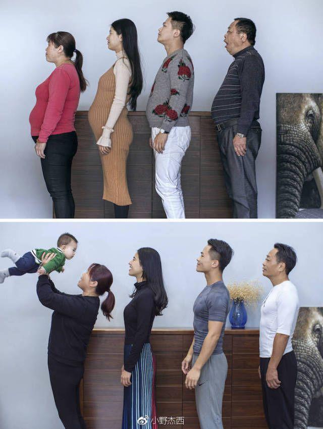 Китайская семья через полгод…
